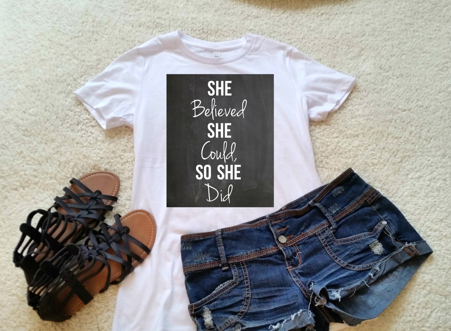 She Believed She Could So She Did Quote T-shirt Available In