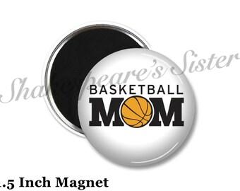 Basketball Mom - Fridge Magnet - Basketball Magnet - 1.5 Inch Magnet - Kitchen Magnet