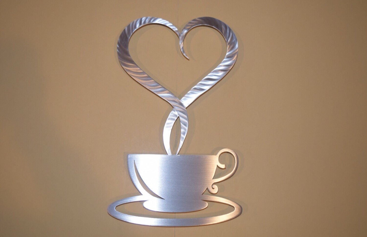 I Love Coffee Metal Wall Art Coffee Sign By Inspiremetals