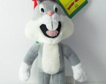 Christmas Bugs Bunny Plush Toy Looney Tunes McDonalds 1992