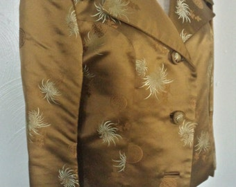 Vintage 50s Chinese silk cropped jacket