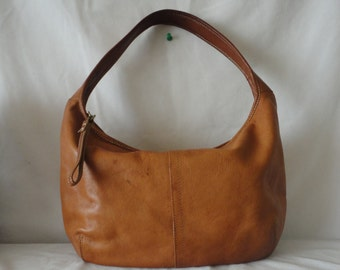 Pre Owned Cognac Hobo Leather Bag********.