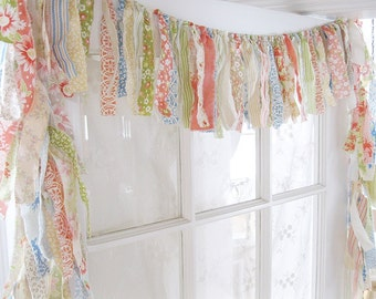 Rag Valance | Boho Valance | Gypsy Curtain | Bedroom Valance | Kitchen Valance