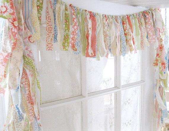 Rag Valance Boho Valance Gypsy Curtain Bedroom Valance