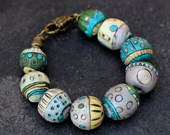 bracelet polymer clay beads are fabulous