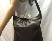 Espirit,brown leather bag,Genuine leather,bags purses, shoulder bag, Free shipping