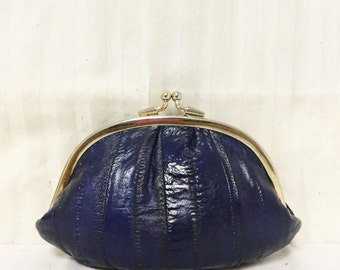 Free Ship Eel Skin Leather Kiss Luck Coin Purse