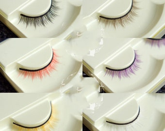 Eyelash lashes BJD sd msd yosd black brown red purple gold yellow white