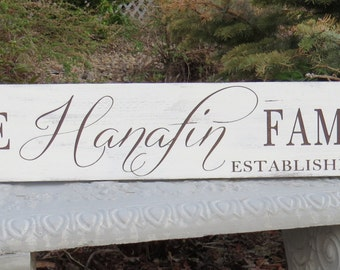 Family Established Sign with Shamrocks~Rustic hand painted Family Est. Wall Plaque/Wedding gift/Housewarming gift/Irish Family Established