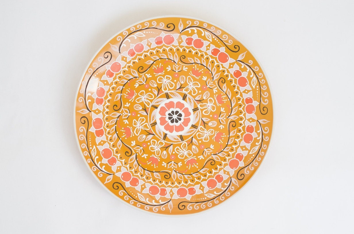 Orange decorative plate fruits decor wall hangings for Fruit orange decoration