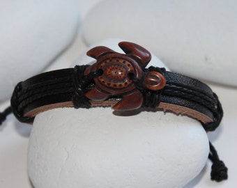 Turtle Leather Bracelet