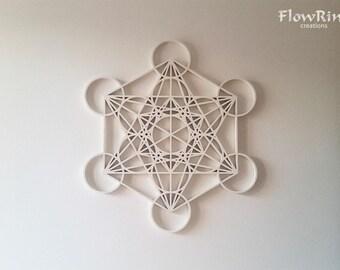 Metatron's Cube white wall decoration