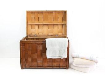 Wooden Basket Weave Box