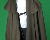 Steampunk Cape - Victorian Times - Brown, Black, Green.