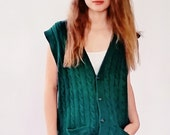 Gilet vert rétro vintage...