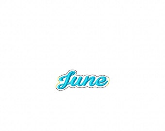 June - Name Headband Slip On - DIGITAL EMBROIDERY DESIGN