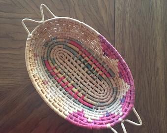 Vintage Southwestern basket / 1980s