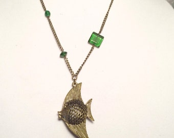 Brass Angelfish Necklace