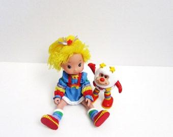 "Hallmark 1983 Rainbow Brite 8"" Poseable Doll With Light Up Twink Sprite"