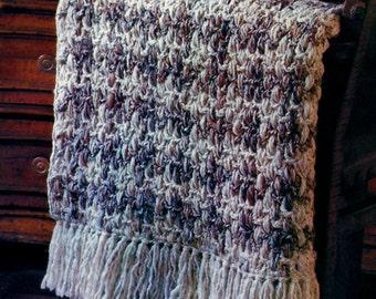 Woven Afghan Vintage Crochet Pattern Download