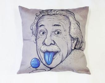 SALE Albert Einstein Cushion Funny Humour Geek Nerd Home Decor Gift
