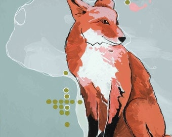 Foxy 12x12 print on high quality semi gloss archival paper