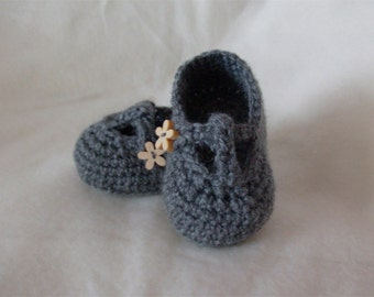 Custom - T-Bar Crochet Baby Shoe Booties - MADE TO ORDER