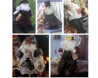 Christmas Decoration Santa Doll and Clothes Christmas Craft Sewing Pattern Uncut Simplicity 9869