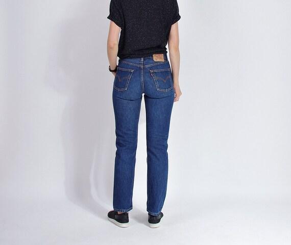 SALE! 90s LEVI'S 501 dark blue denim street style jeans / size w30 l32