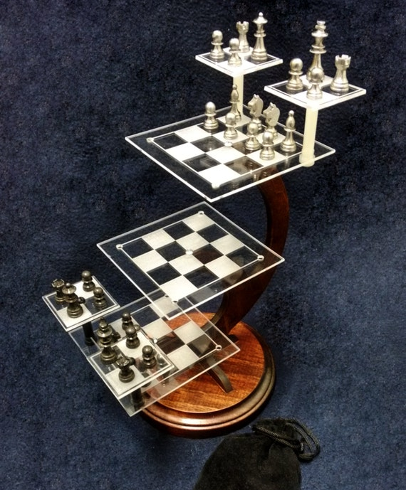 Unavailable listing on etsy - Tri dimensional chess set ...