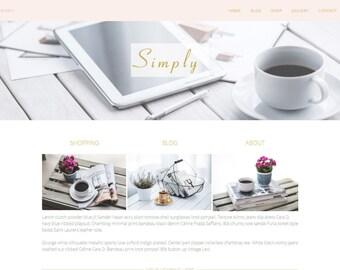 "Website Template - Website Design - Premade Website - ""Simply"" Photography Website"