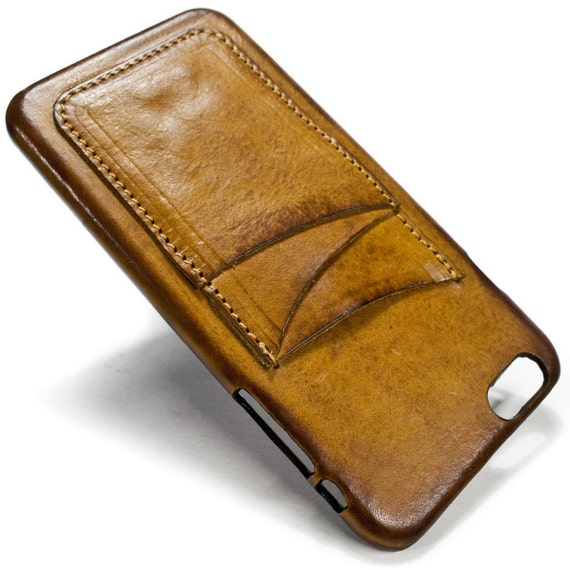 "NEW iPhone 8 and  7 Plus display 5.5"" Italian Leather Case with 3 credit cards holder vertical SLOTs choose the color of BODY and ACCENT"