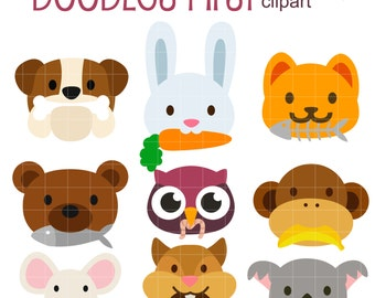 Animal Foods Digital Clip Art for Scrapbooking Card Making Cupcake Toppers Paper Crafts