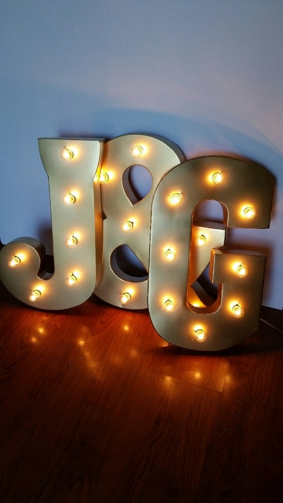 21 gold light up letters large marquee electric sign