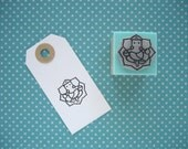 GANESHA LOTUS Rubber stamp. Ganesh Lotus