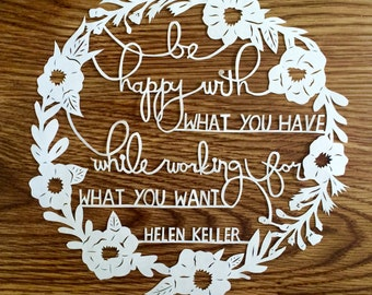 Custom Papercut Quote