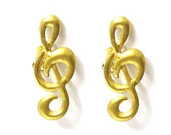 Original earrings JUNKO SHIMADA, goldtone