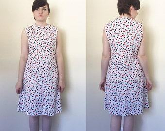 1960s Handmade Polka Dotted Shift Dress