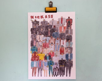 Kick Ass Team Illustration
