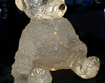 Collectible Sarah's Attic Resin Reading Bear Figurine