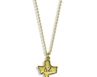 Delta Zeta State Necklace // Sorority Jewelry // Sorority Gifts // Big Little