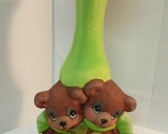 Irish Cuddle Bears Vase