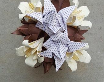 Nuetral Origami Flower Arrangement