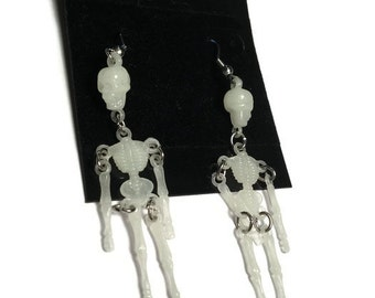Glow In The Dark Skeleton Earrings