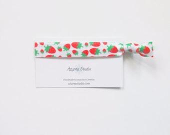 Strawberries Hair Tie