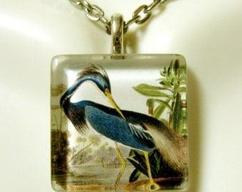 Blue Heron pendant and chain - BGP01-014