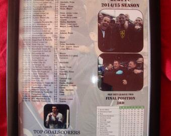Bury FC League Two promotion 2015 - souvenir print