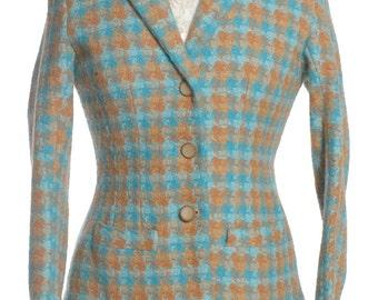 Vintage 1960's Bespoke Wool Skirt Suit 12 - www.brickvintage.com
