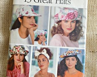 Butterick 5948 // Summer Hat patterns // 5 styles // craft pattern