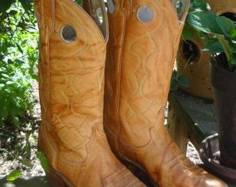 Vintage ACME Leather Mens Cowboy WESTERN BOOTS Size 7D